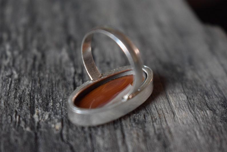 jasper ring gift for her Code 42 Polychrome jasper ring 925 sterling silver ring Statement ring Jasper silver ring