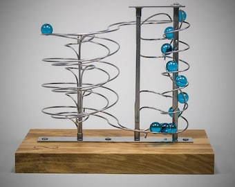 Kinetic sculpture, Kinetic art, Rolling ball sculpture, business gift, best gifts for men, industrial, Gift, handmade, retro, business gift
