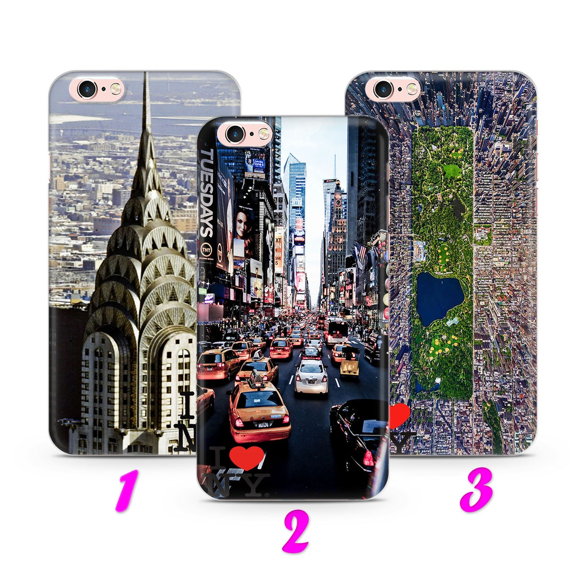 I LoVE NeW YoRK 3 iPhone 4 5 SE 1 & 2 Gen 6 7 8 X s Max ...