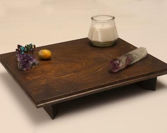Wooden Spiritual Altar / Crystal Display | Shrine | Prayer | Center | Puja