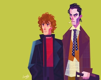Withnail & I - Withnail and Marwood 8x10in art print