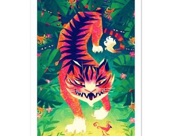 Jungle Tiger - A4 art print