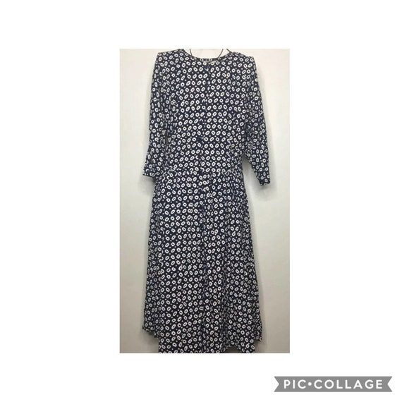 90's Starina long button front Dress w. pockets