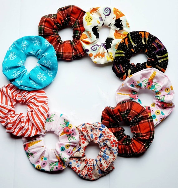 SCRUNCHIES Floral and Solid Scrunchies for wrist and hair