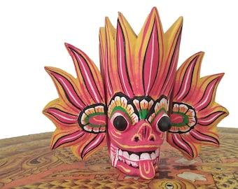 Sri Lankan Handmade Wood Carved NariLatha Mask Premium Quality Asian Artwork