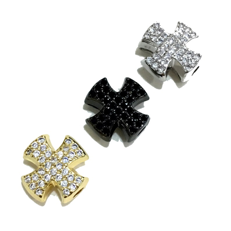 Nickel Free Cubic Zirconia Micro Pave Brass Flower Charm 11.4mm Gold Plated DIY Findings Fashion Pendant Craft Supplies Earring Charm