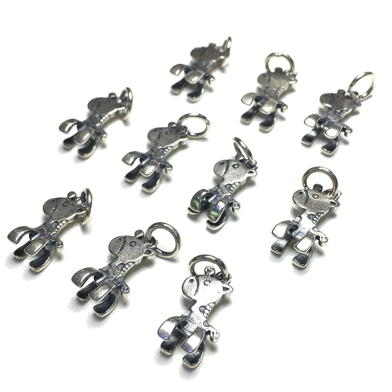 DIY Finding 9x15mm 10pcs 925 Sterling Silver Charm Silver Spacer Beads For Accessories Jewelry Design /& Jewelry making Fashion Pendant