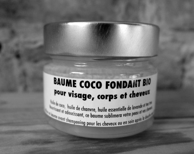 BIO melting coconut balm, for face, body, hair