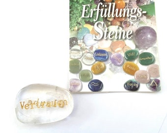 Wish and fulfillment stone as a hand flatterer and pocket stone to give and to do something good to yourself!