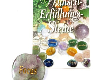 Desire and fulfillment stone fluorite as hand flatterer and pocket stone to wish and give away.
