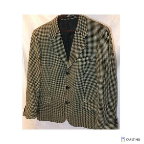 Vintage Oversized Blazer, Wool Blazer, Check blaze