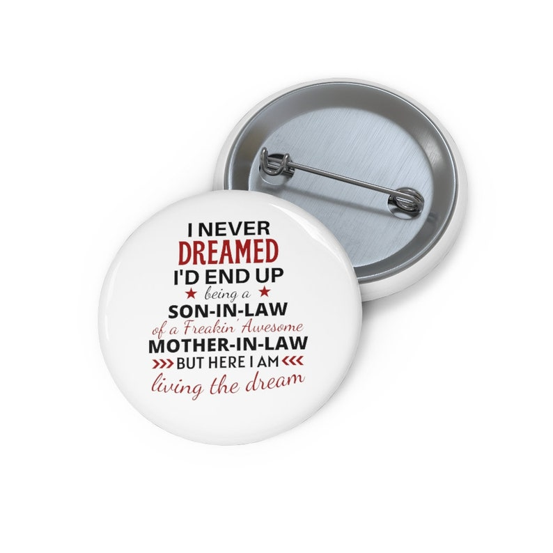 Funny Son In Law Pin Button