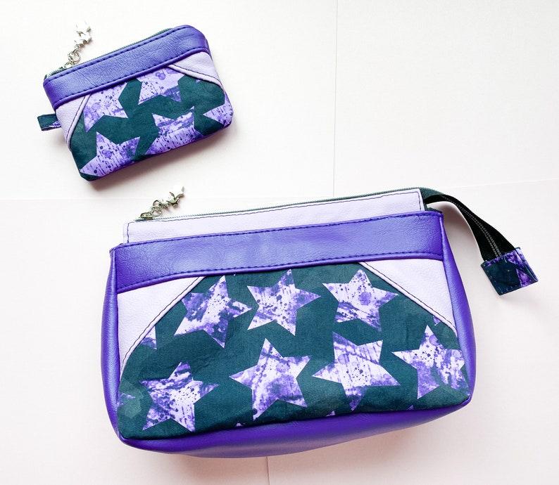 Purple Stars Coin Purse