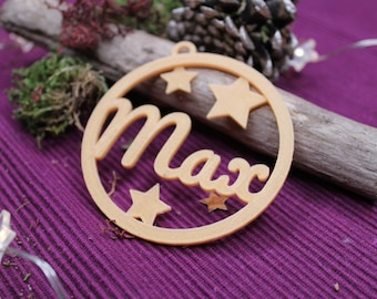Decoration pendant ideal for winter time with stars or snowflakes customizable