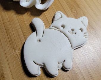 Kitty Cat Butt Cookie Cutter
