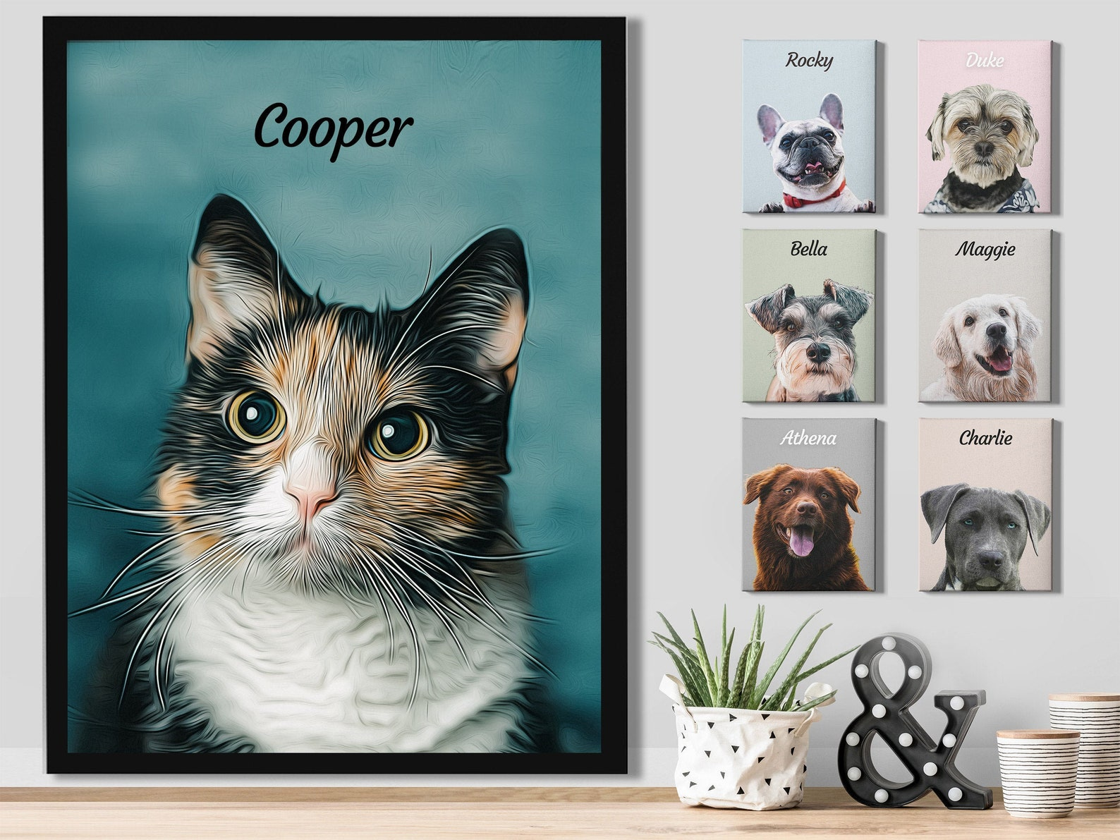 Custom Digital Cat Portrait