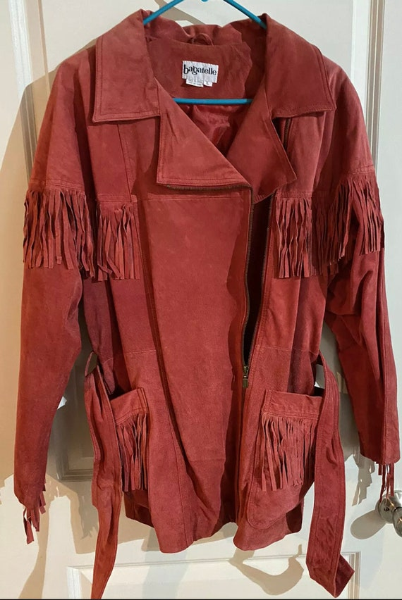 Vintage Bagatelle Fringed Leather Jacket