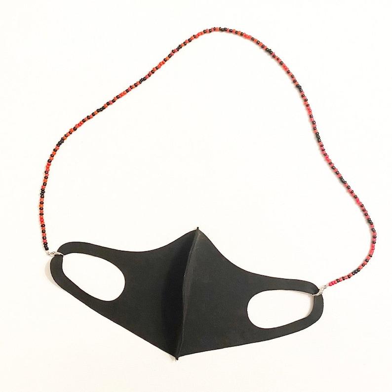 necklace  Georgia Bulldogs  Atlanta Falcons  mask holdermask chain  Team Mask Necklace wrap bracelet Maryland 3-in-1 mask necklace