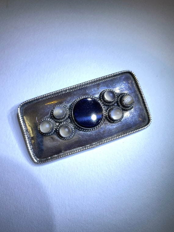 Signed Cherub Angel /& Heart 26 Grams Antique Sterling Silver Brooch