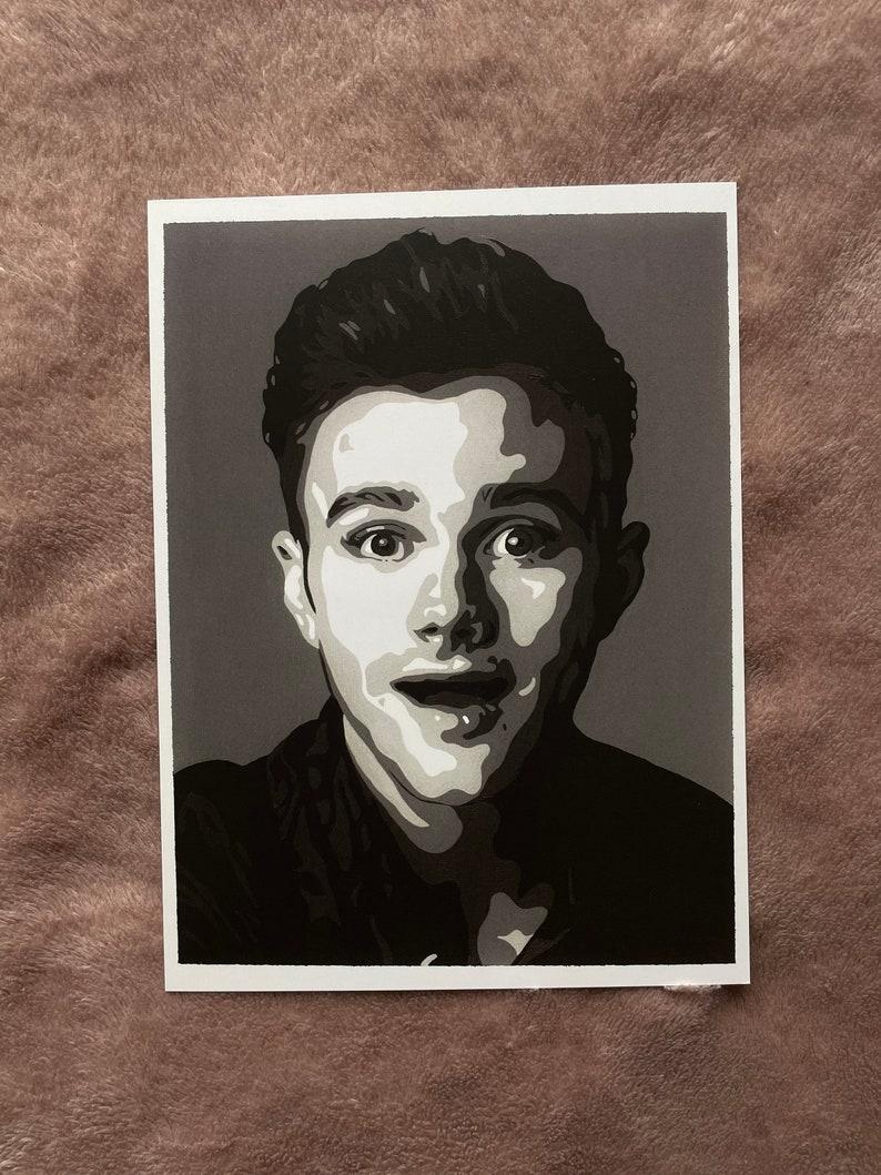 Print of Original Artwork Chris Colfer