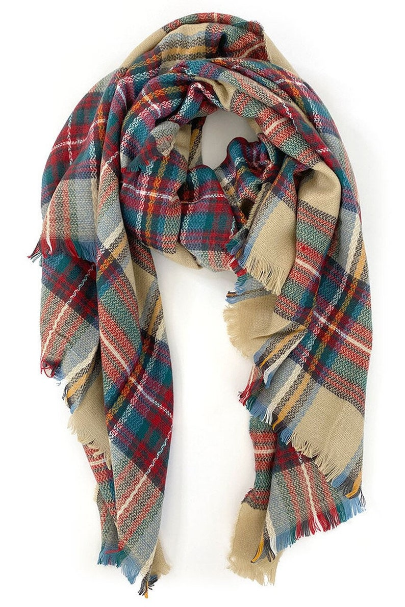 Oversize Plaid Blanket Scarf | Stay At Home Mum
