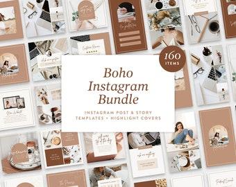 Instagram Template Bundle     Canva Instagram Templates for Posts & Stories     Social Media Templates     Boho Beige Color Palette
