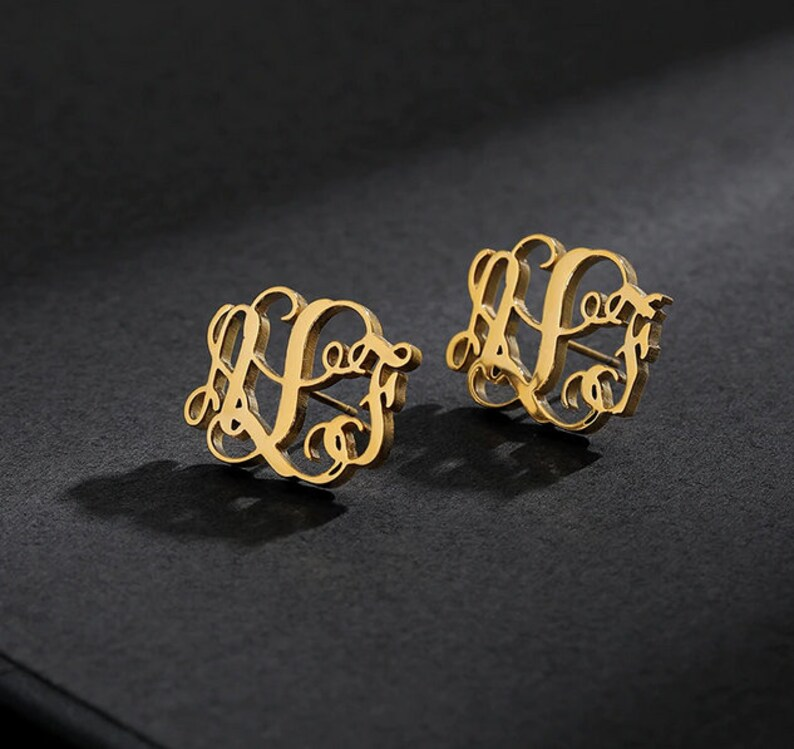 Monogram Letter Earrings Personalized Name Earrings Name Earrings Letter Earrings Custom Earrings Customized Earrings Initial Earrings