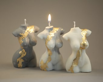 Body Candle/Female Torso/Pregnant lady candle/ Naked Body Candle
