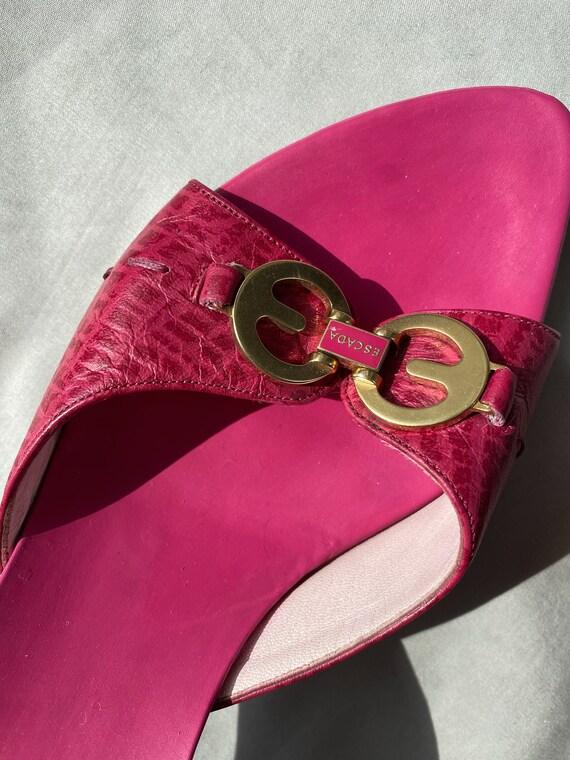 Vintage 90s ESCADA pink mules 37 size, Authentic … - image 5