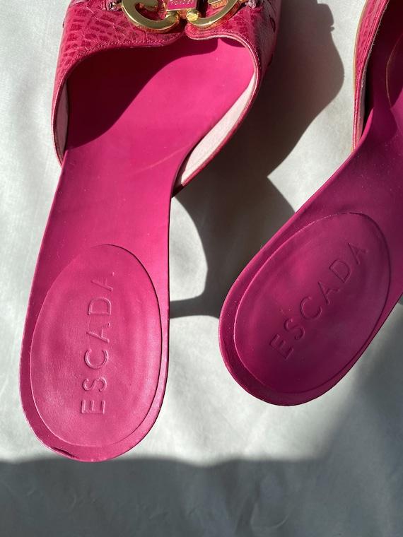 Vintage 90s ESCADA pink mules 37 size, Authentic … - image 6