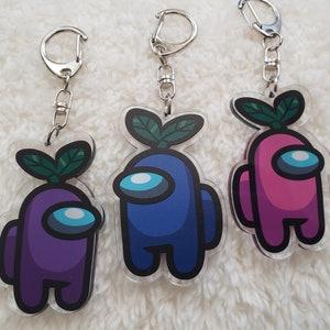Among Us Ears /& Dum Acrylic Keychain Keyring
