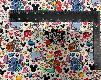Disney Dogs Mask Tumbler Cut Cotton Woven Fabric 9L x 14W