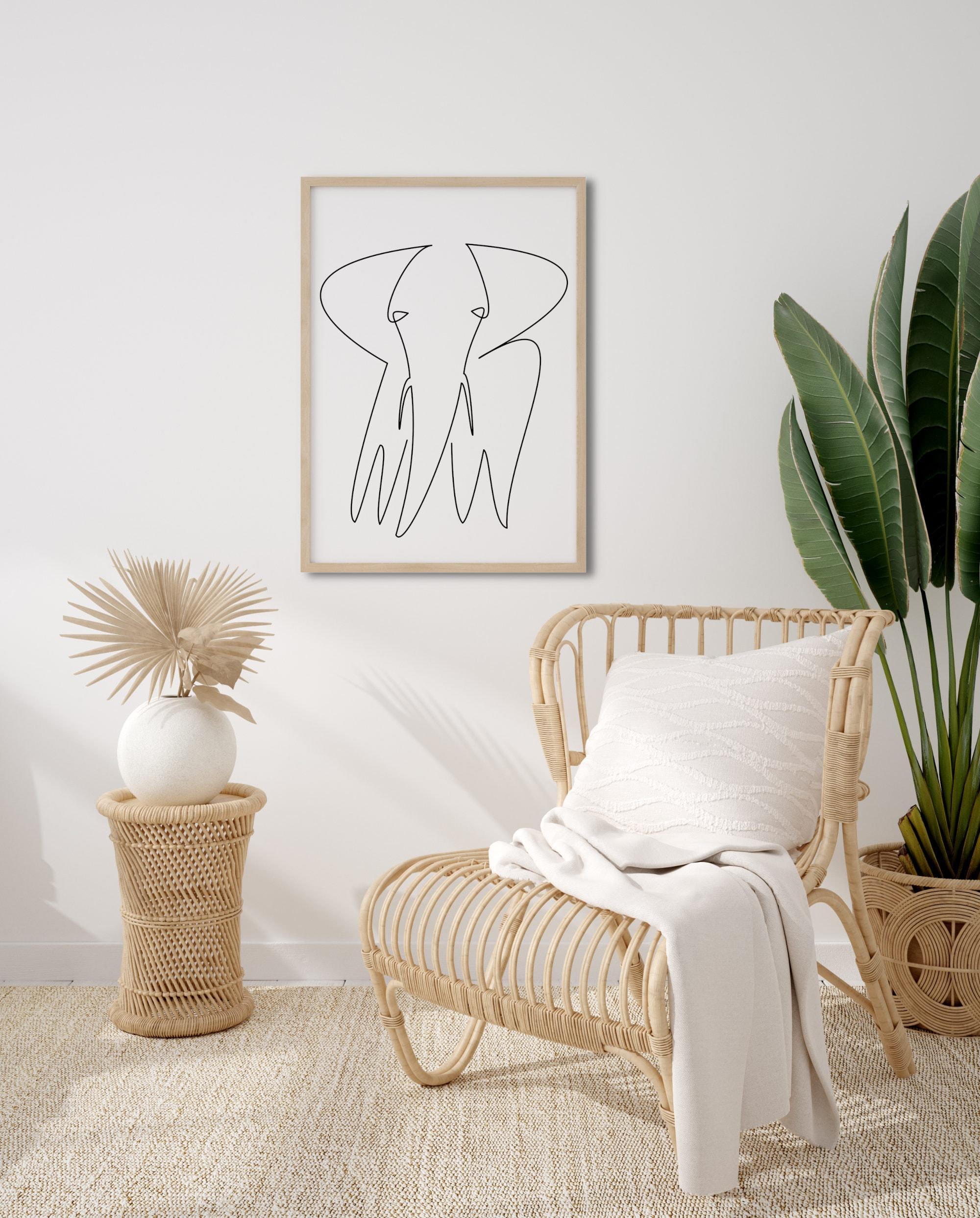 elefant druckbare linie kunst elefant einfache