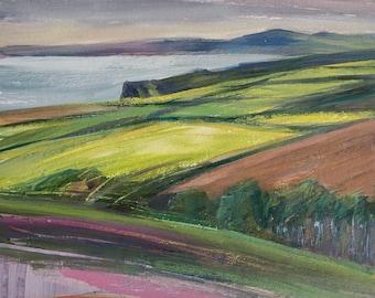 Pembrokeshire coastline, original painting