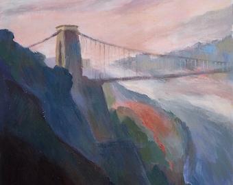 Clifton Suspension Bridge, Bristol, original painting