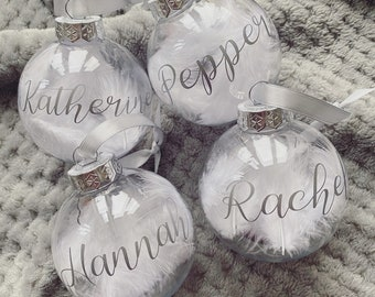 Personalised Christmas Baubles Personalised Memory Bauble Baby Lockdown Bauble