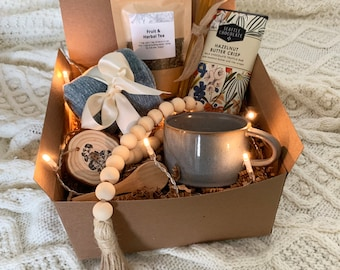 Cozy care package   gift box for women, fall gift box, hygge gift box, sympathy gift, grief care package, thinking of you care package