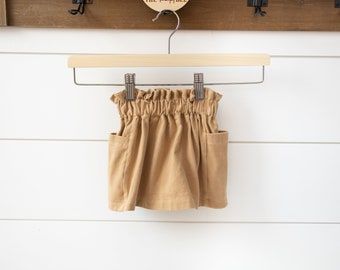 Pocket Skirt for Babies, Toddlers and Kids | Made to Order | Paperbag Waistband Skirt