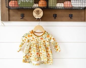 Peplum Shirt and Dress for Babies, Toddlers and Kids | Made to Order | Slub Jersey, Cotton Spandex and Bamboo Spandex