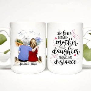 Muttertagsbecher die Liebe zwischen mutter und Tochter