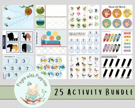 Busy Book    Busy Binder   Printable Activity Bundle   25