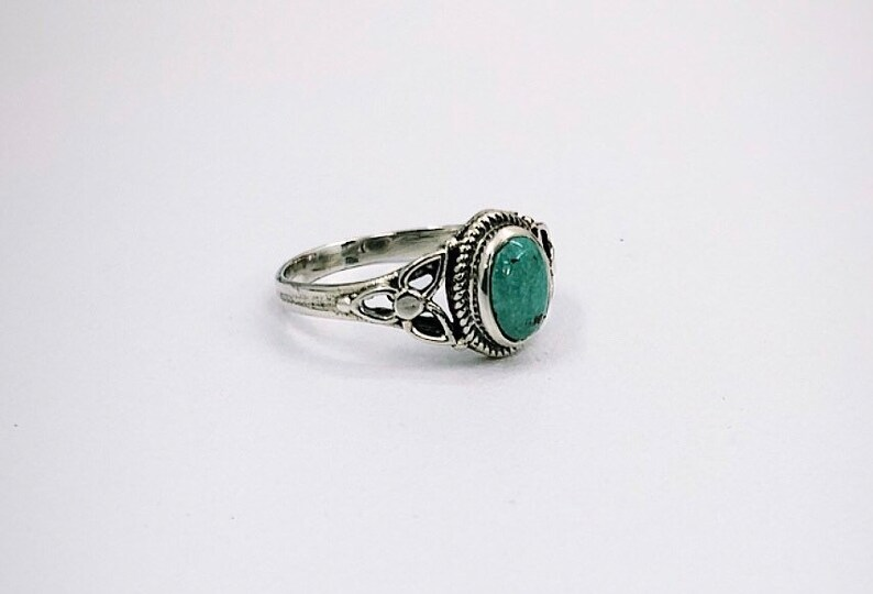 free shipping. natural stone Natural Turquoise designer sterling silver ring 925 silver ring boho ring