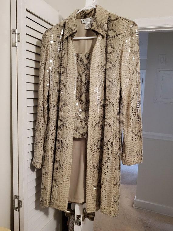 2 Piece Sequin Jacket Set