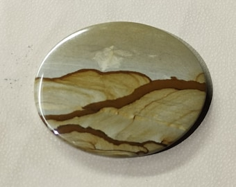 Best for jewellery Hendmed Stone AAA  quality Natural Owyhee Picture Jasper piar Cabochon Healing Stones,