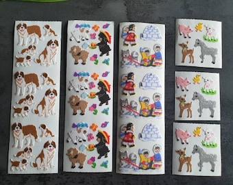 Vintage Sandylion Teddy Bear Kromekote Glitter Stickers You Choose
