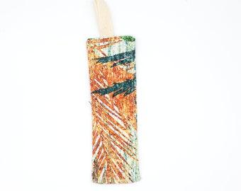 Orange palm patterned bookmark