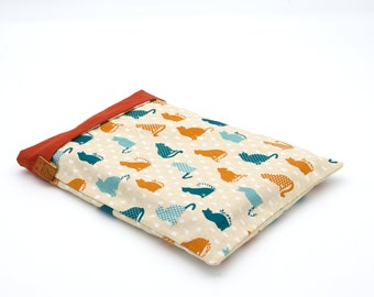 Large-format book pocket cats orange and blue duck