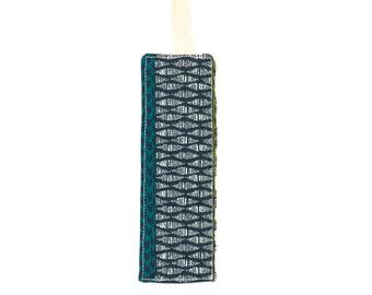Safari pattern fabric bookmark