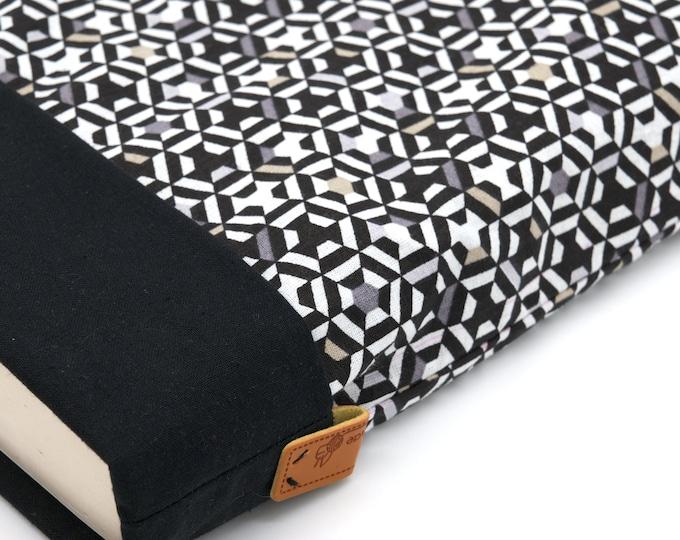 Large-format book pocket black geometric pattern