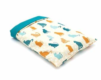 Pocket book pocket pocket cats orange and green blue